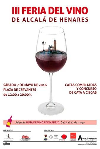 Cartel Oficial de la III Feria del Vino en Alcalá de Henares