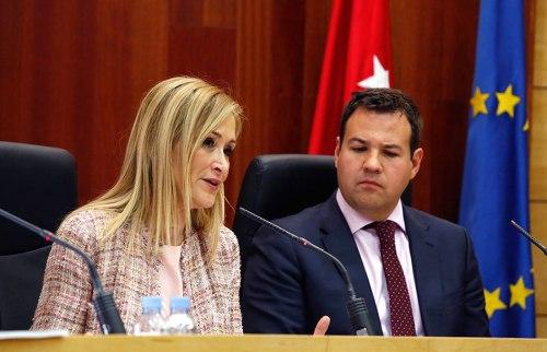 Cristina Cifuentes en la rueda de prensa tras el Consejo de Gobierno