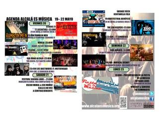 Agenda musical fin de semana del 20 al 22 de mayo en Alcalá de Henares