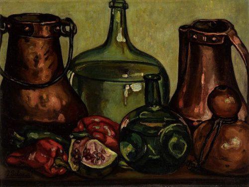 Bodegon con cobres, de Gutiérrez Solana