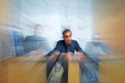 Presentación en la Sala de Prensa del Ayuntamiento. Foto de Ricardo Espinosa Ibeas