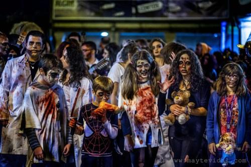 Foto de Mayte Vidal cedida por la organización de la Marcha Zombie