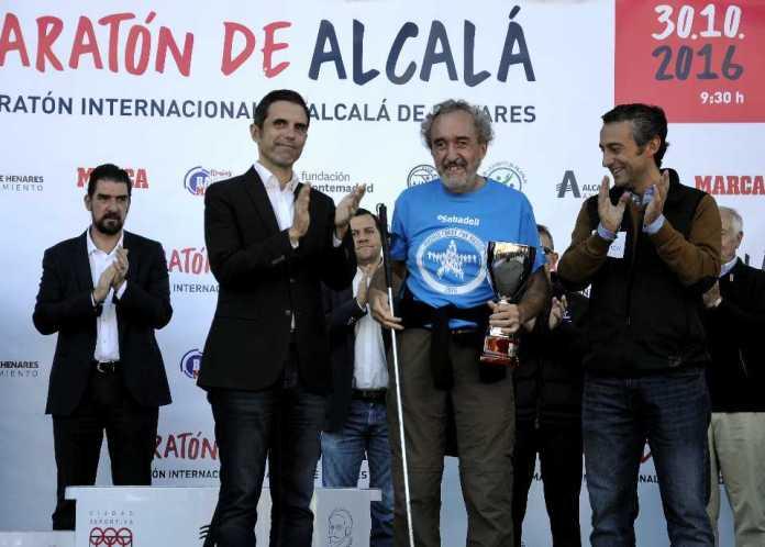Ismael Martínez Liébana recibe el premio del Honor. Foto cedida por el ayuntamiento