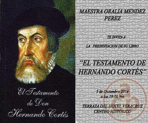 Resultado de imagen para Fotos de del testamento ológrafo de Hernán Cortés,