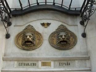 Valencia.Palacio de Correos.Buzones exteriores.Detalle.20090222