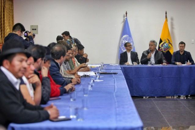 Resistencia indígena en Ecuador obliga a Lenín Moreno a convocar diálogo nacional