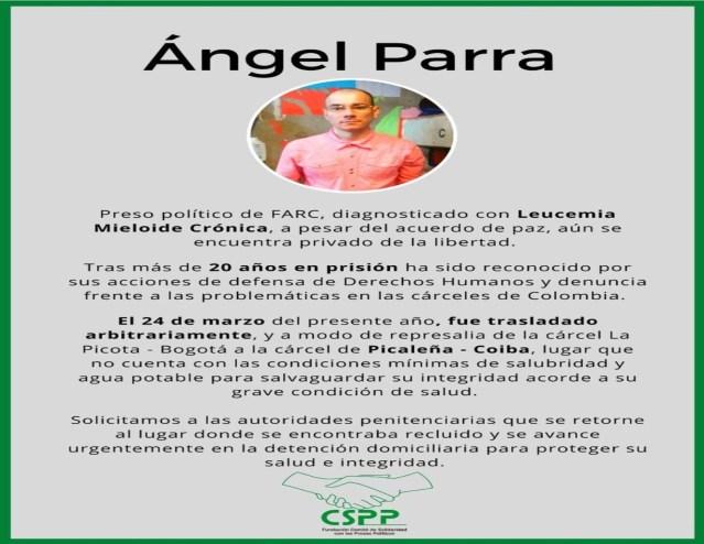Traslados de los presos políticos para la cárcel Picaleña incrementa el riesgo de salud de los reclusos
