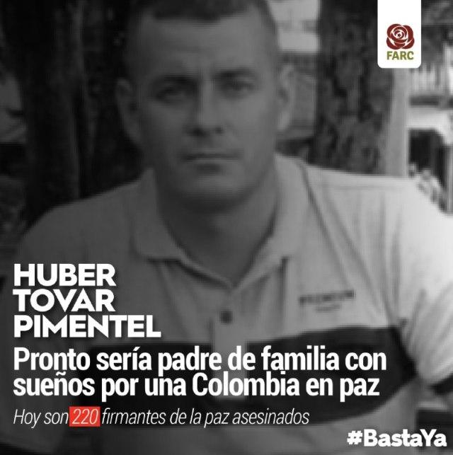 Asesinan a excombatiente Huber Tovar Pimentel en Cartagena del Chairá