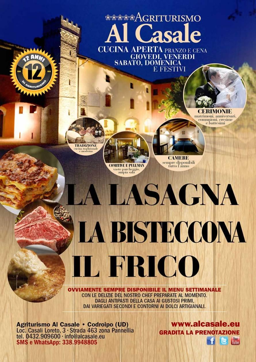 frico lasagna codroipo 890x1258 Lasagna, bisteccona e frico allagriturismo Al Casale di Codroipo