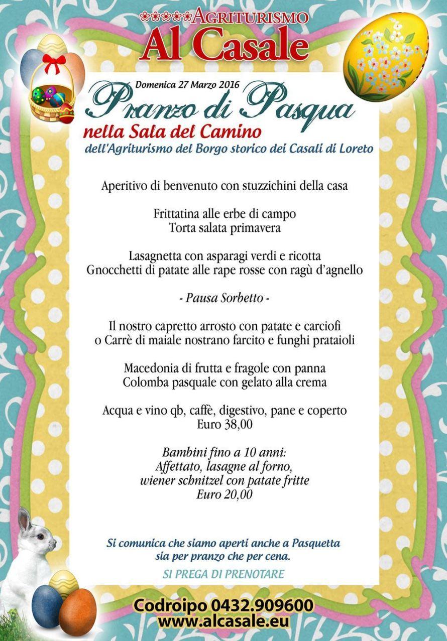 menu pasqua codroipo agriturismo 890x1277 Pranzo di pasqua agriturismo Al Casale Codroipo