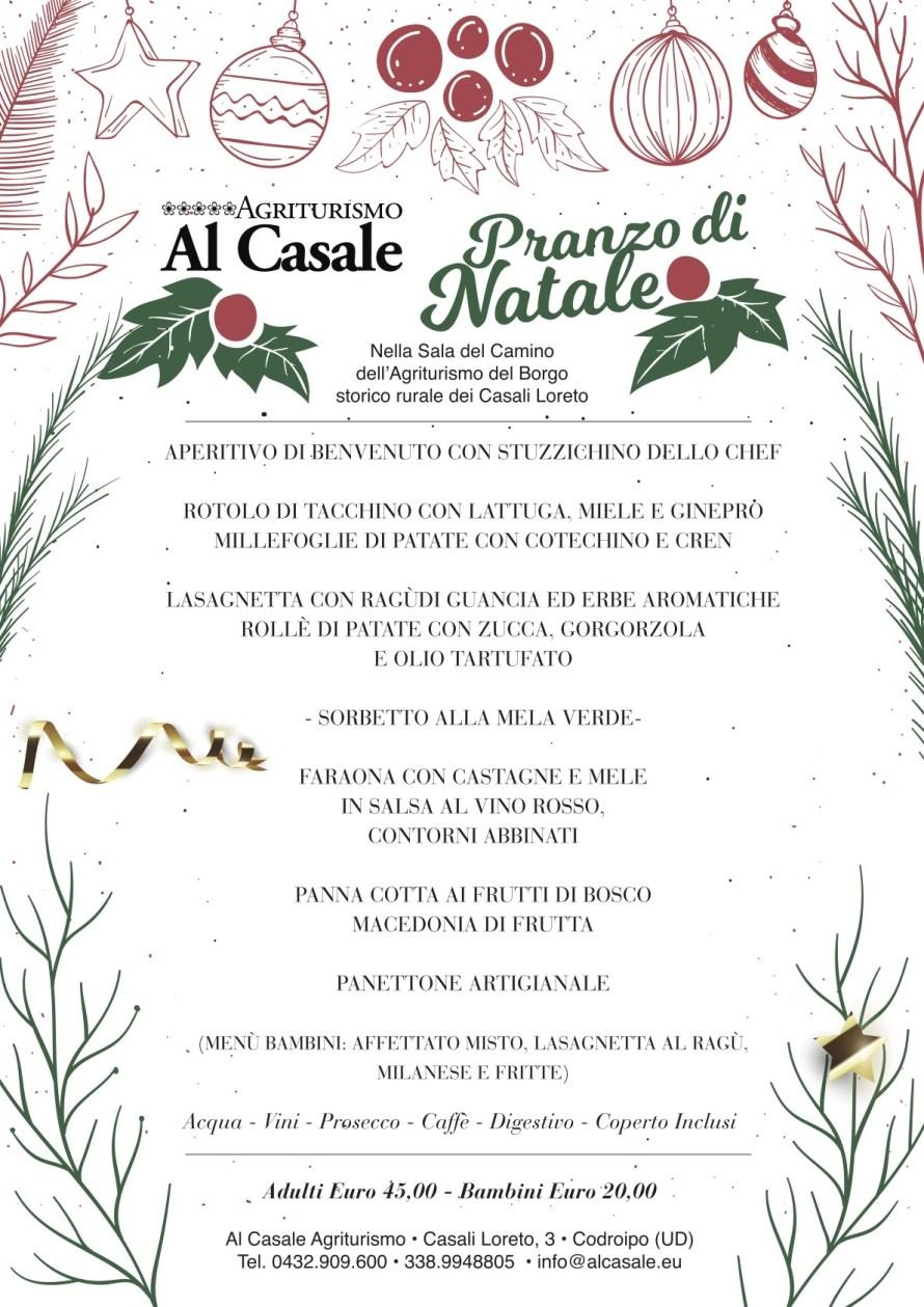 Menu Natale Casale 2018 890x1259 Menù Pranzo di Natale 2018   Agriturismo Al Casale Codroipo