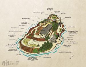 Alcatraz Island Exterior Diagram