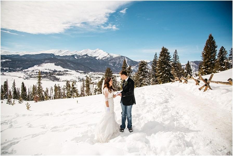Breckenridge wedding photographer sapphire point wedding
