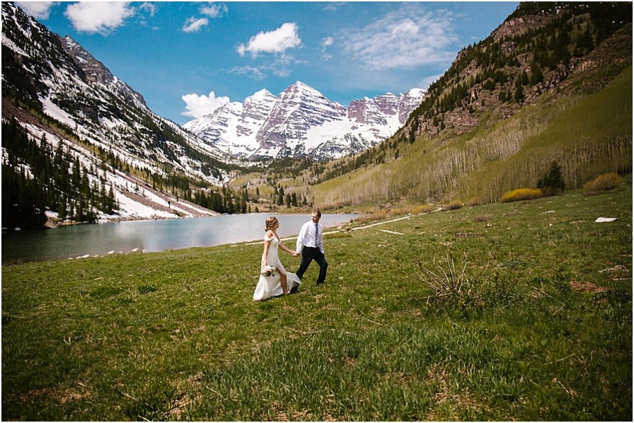 Maroon Bells Elopement Colorado Mountain Wedding