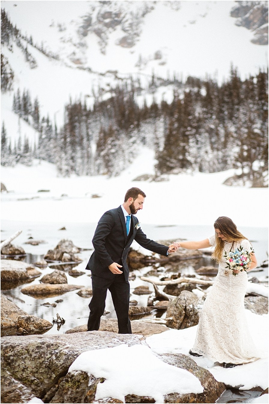 Colorado Mountain Elopement Photographer Dream Lake