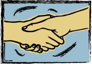 Trust is a handshake