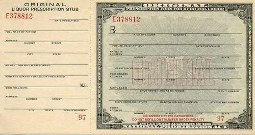 Prohibition in America (U S ): Timeline