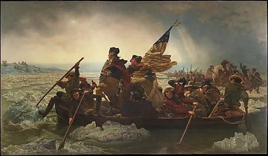 Washington crossing the Delaware River