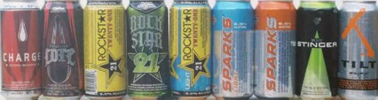 energy drinks and alcohol