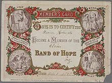 temperance group membership card