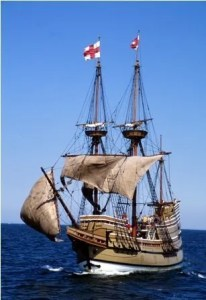 They Mayflower II Sailing