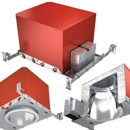 dmf lighting fah fahrenheit 4 inch aperture led new construction recessed downlight fire and sound rated housing