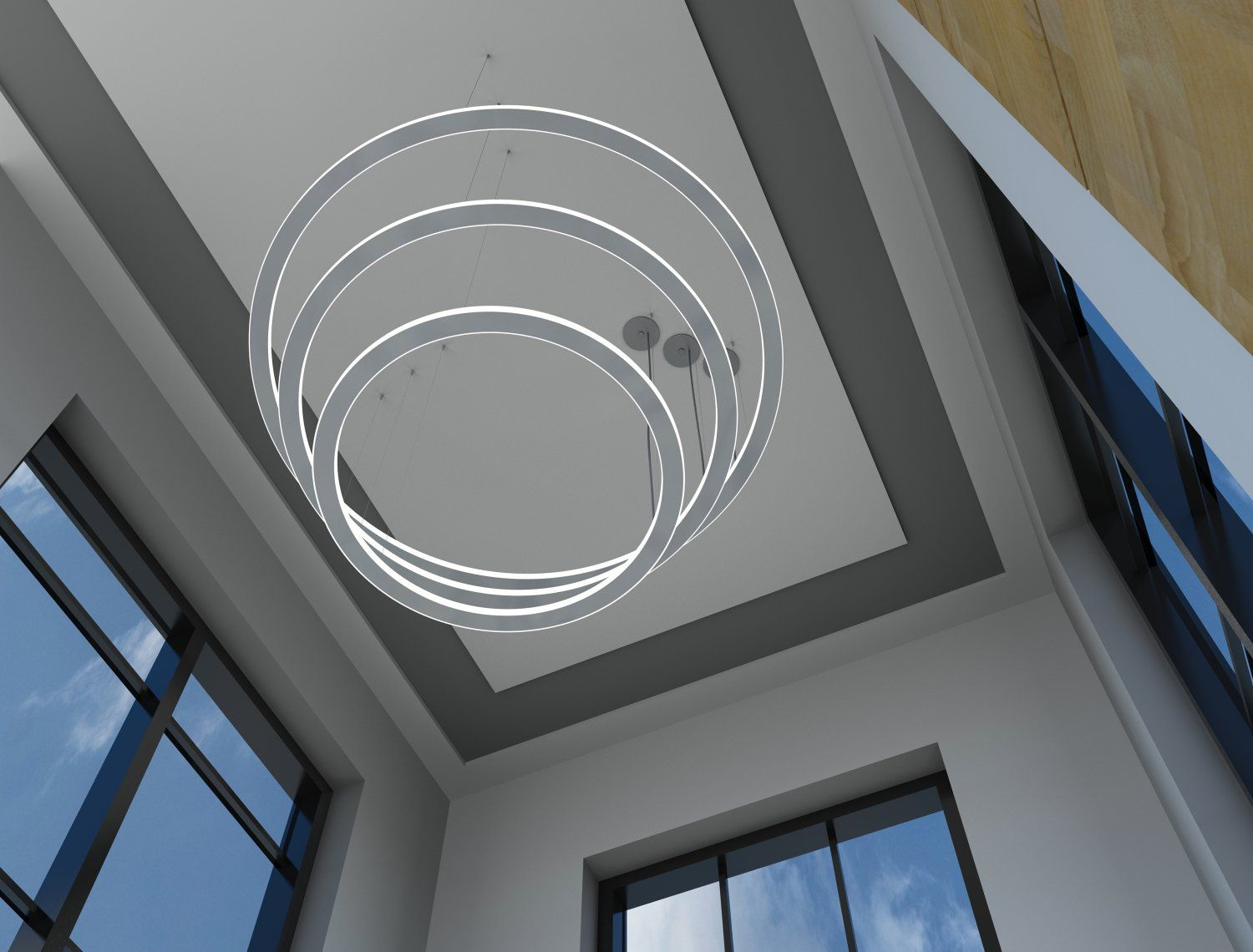 Betacalco Micro Ring De Suspended Round Pendant Led Light