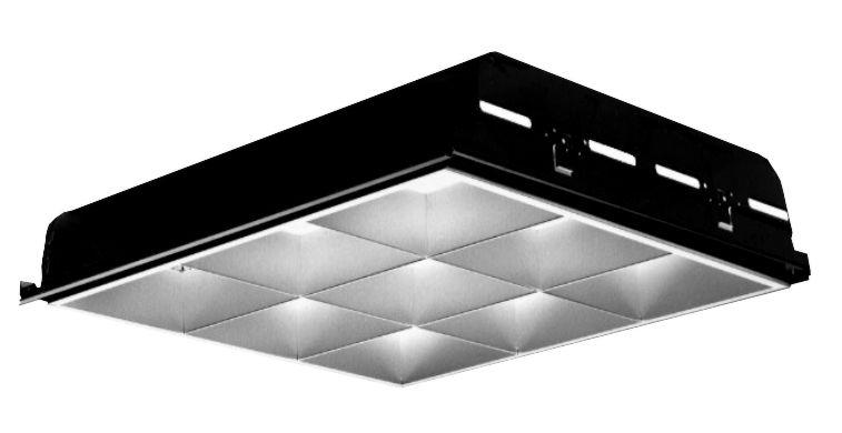 lightolier deepcel plus 2 x 2 recessed flourescent 9 cell parabolic louver t8 2 lamp
