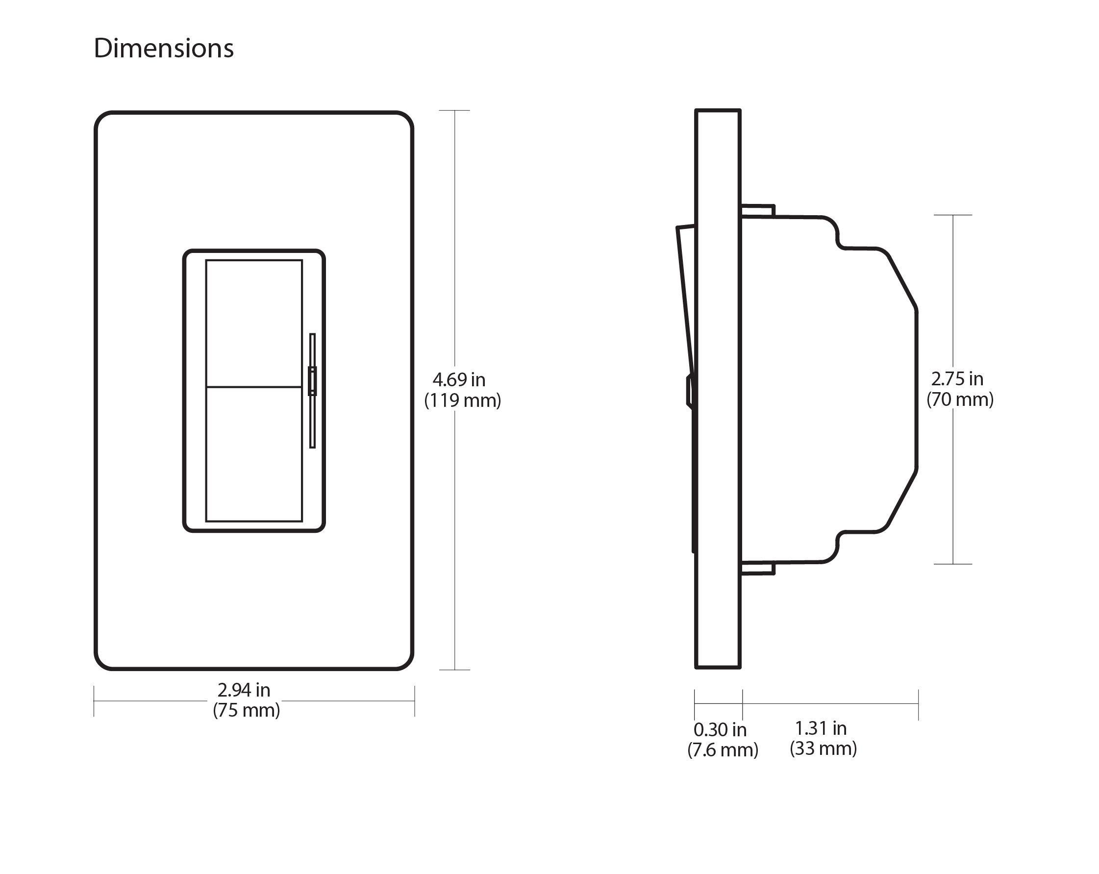 Lutron Diva Dvstv Wh 0 10v Dimmer Switch Single Pole 3