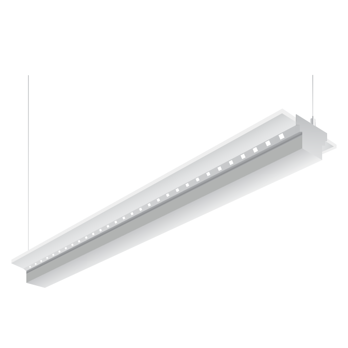 he williams sia2 square led 8 foot architectural linear pendant light fixture white