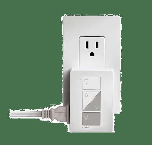 lutron caseta wireless pd 3pcl wh plug in lighting dimmer 120v white