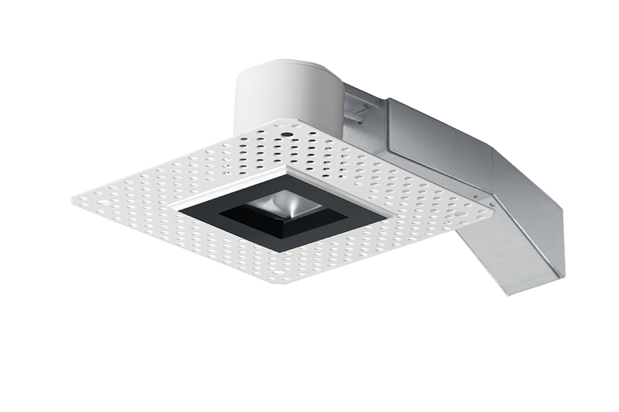 rab rdled2s8 20yy tlb 2 inch trimless square remodel led recessed light black ring trimless look 2700k