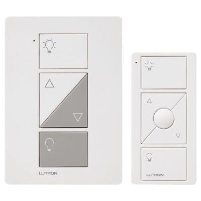 lutron caseta p pkg1p wh caseta wireless 300 watt 100 watt plug in lamp dimmer with pico remote control kit white