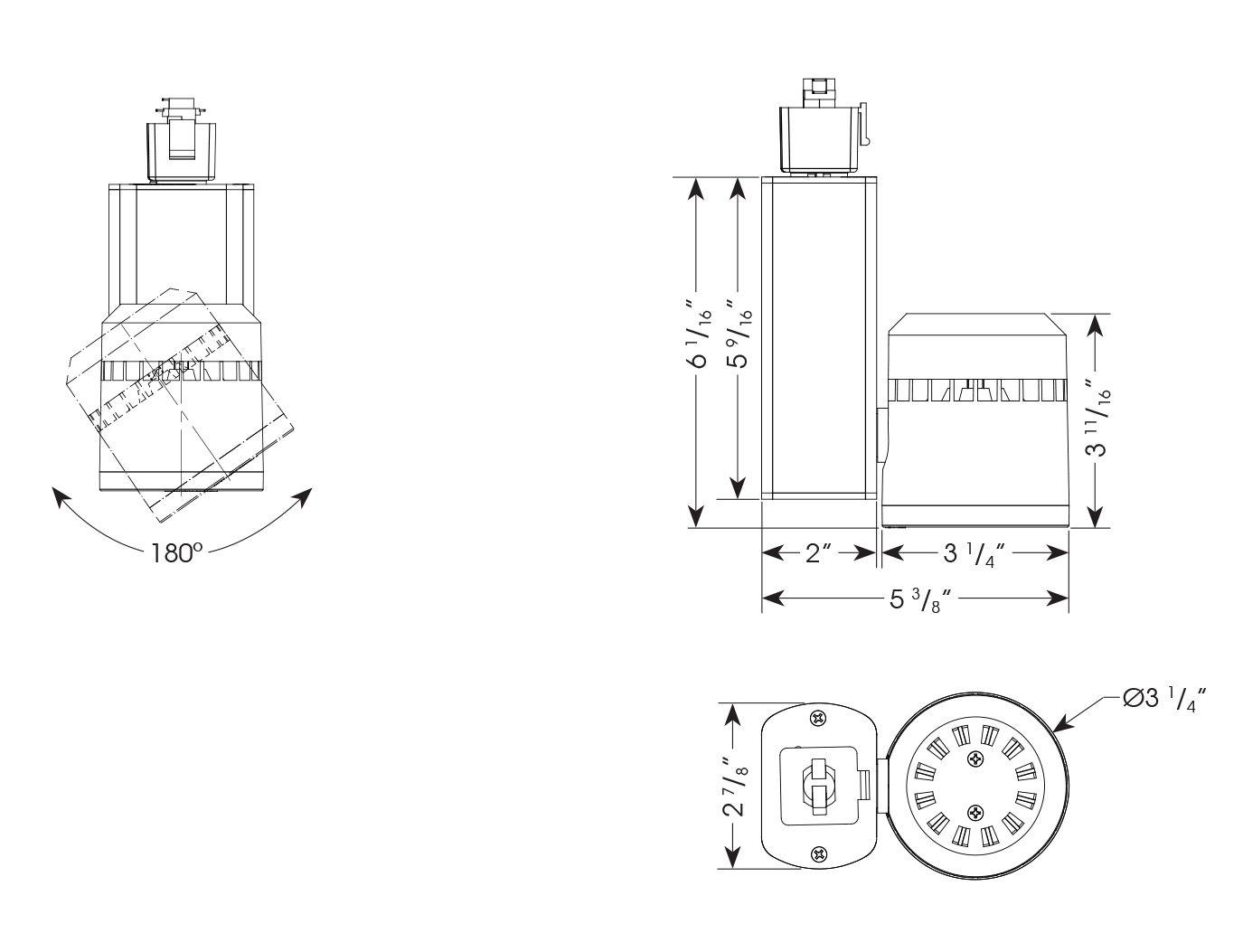 Amerlux C3mv Cylindrix Iii Mini Vertical C3mv 21w Led Track Light Fixture