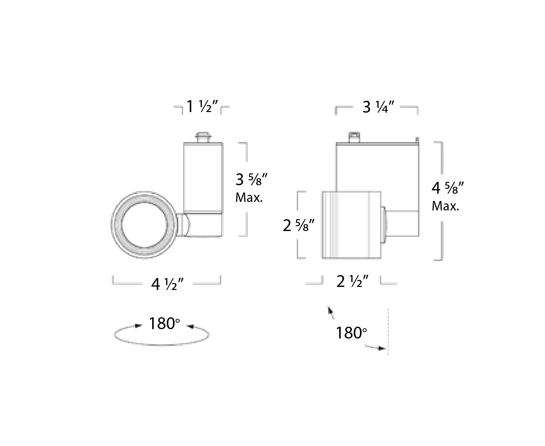 Alcon Lighting Architectural Adjustable Swivel