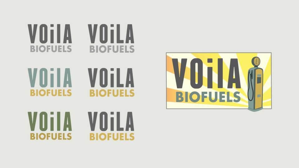 Logo Design: Voila Biofuels, Portland, Oregon