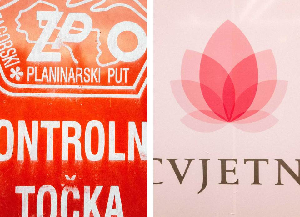 Croatian logo and type design. Found type.