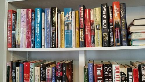 Used Book Sale shelf