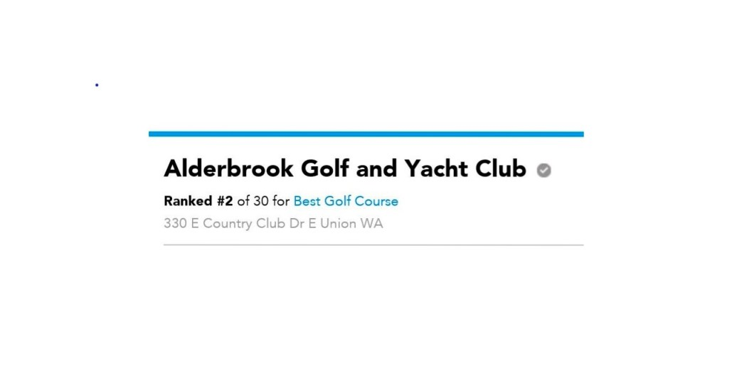 Congrats to Alderbrook Golf and Yacht Club in the Seattle A