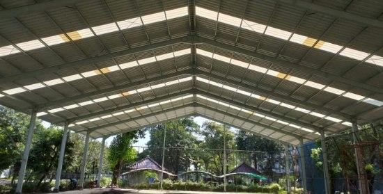 kanopi atap upvc alderon bening transparan