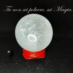 sfera in quarzo ialino