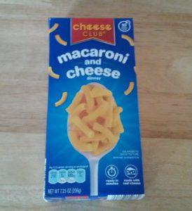 cheese club macaroni and cheese dinner