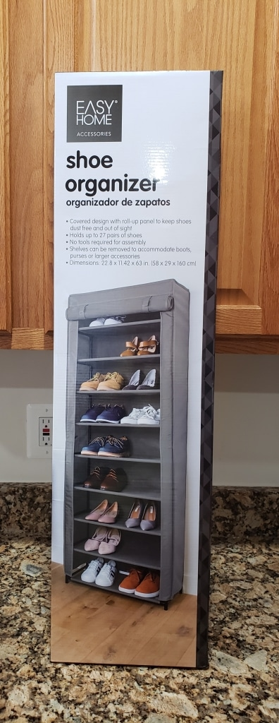easy home shoe organizer aldi reviewer
