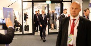 NATOs generalsekretær Jens Stoltenberg etter NATO-toppmøtet i Polen lørdag 9. juli 2016. Foto: KJETIL STORMARK/ALDRIMER.NO NATO Secretary General Jens Stoltenberg after the NATO summit in Poland on 9 July 2016. Photo: KJETIL STORMARK/ALDRIMER.NO