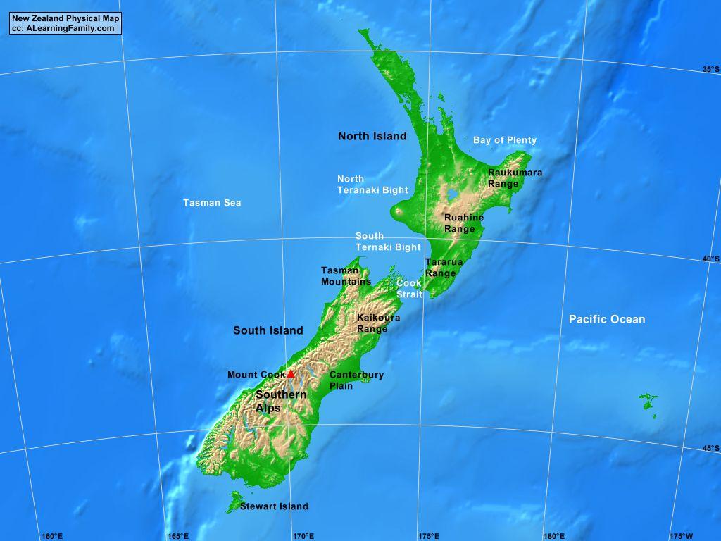 Resultado de imagen de NEW ZEALAND MAP