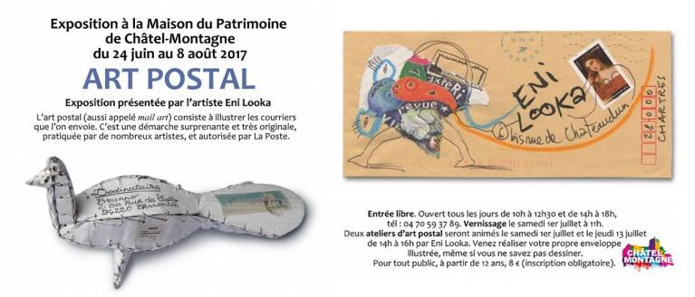 Exposition d'Art Postal à la Maiosn du Patrimoine de Châtel-Montagne