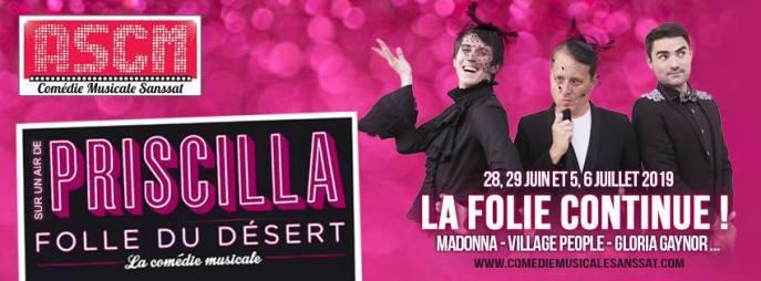 """Sur un air de """"Priscilla folle du désert"""", la comédie musicale de Sanssat - 2019"""
