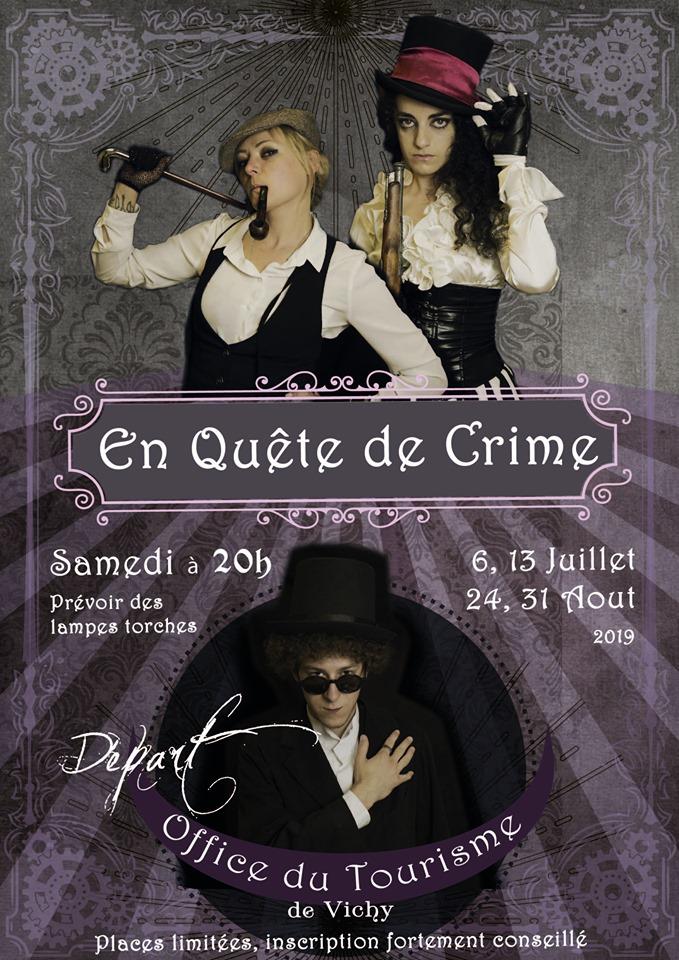 """""""En quète de crime"""", visite théâtralisée à Vichy"""