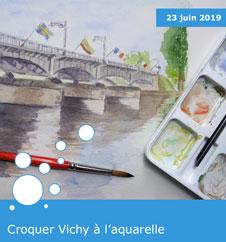 Croquer Vichy à l'aquarelle