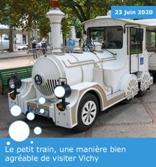 Le petit train, une manière bien agréable de visiter Vichy